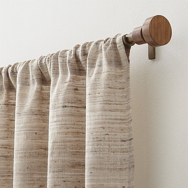 Dress Up Your Windows With Curtain Rods Tie Back And Rings From Crate And Barrel Browse Curtain Hardware In A Varie Silk Curtains Panel Curtains Curtain Rods