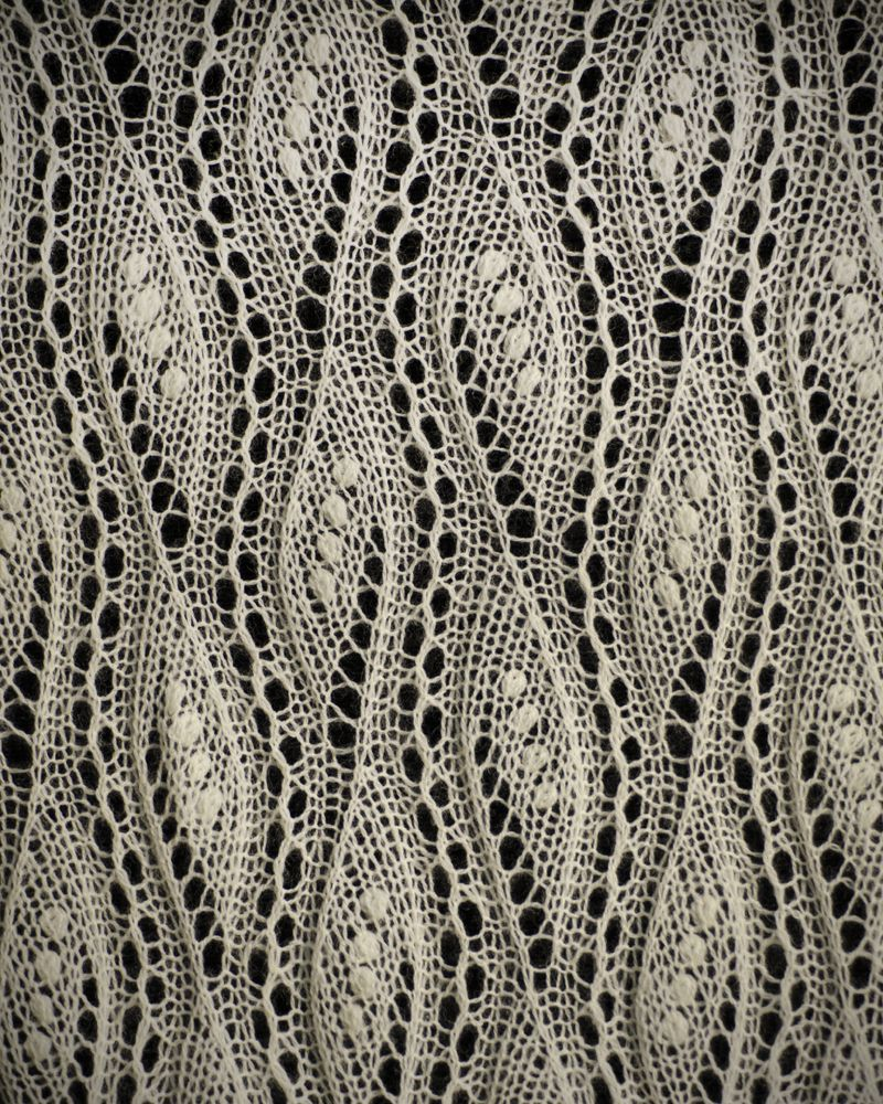Knitted Lace from Estonia.On display in a museum in the US. Most displayed