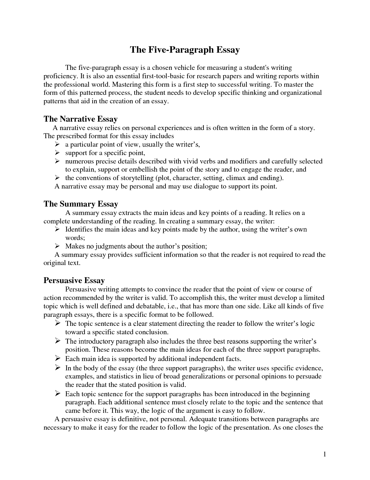 rules for writing a personal essay