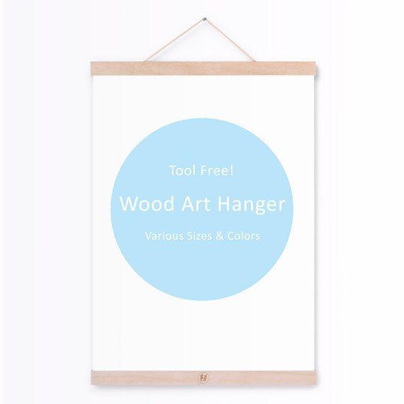 tool free wooden poster hanger ikea light minimalist door qingyishu