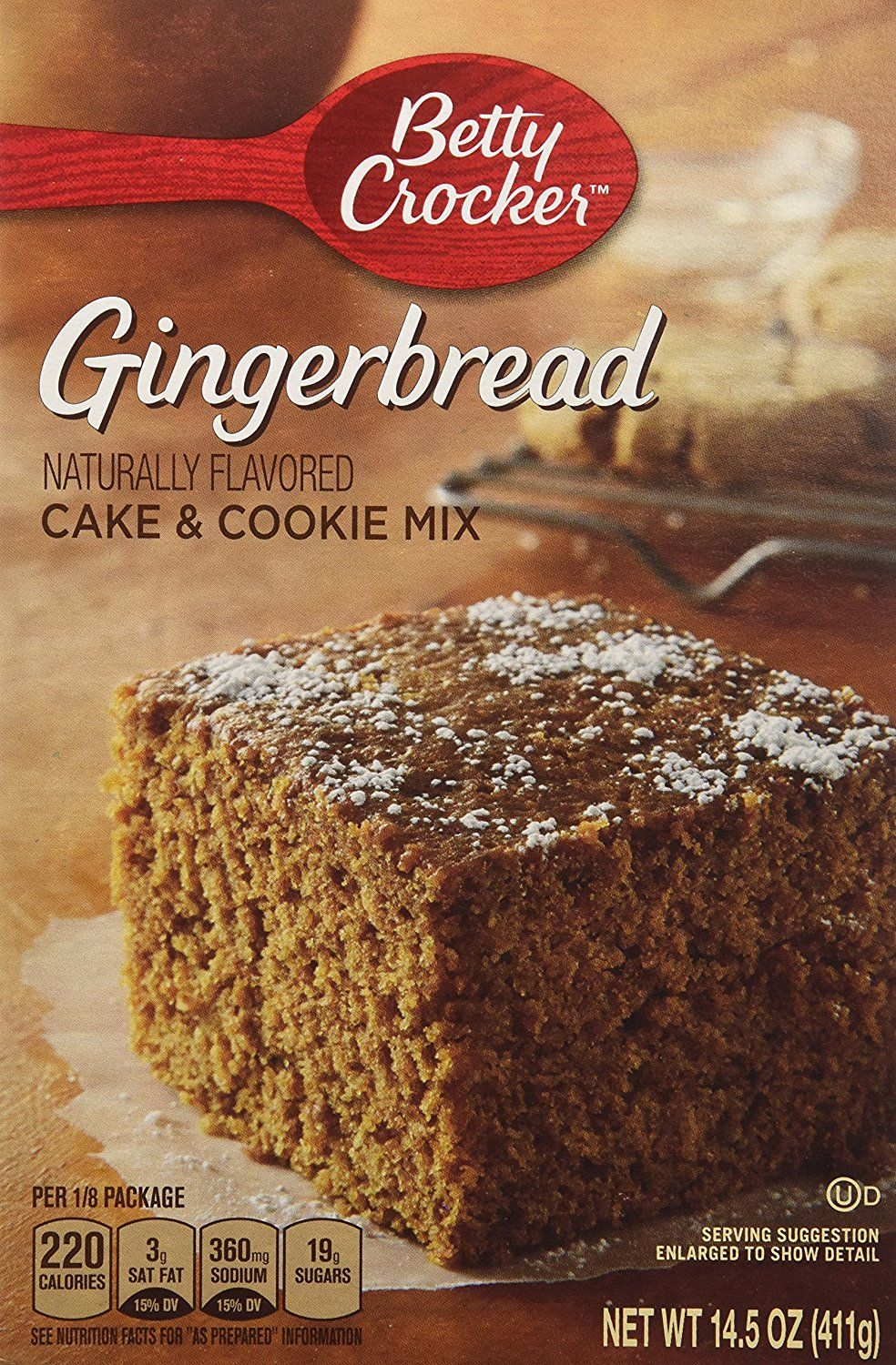 Betty crocker gingerbread cake and cookie mix 145 oz 2