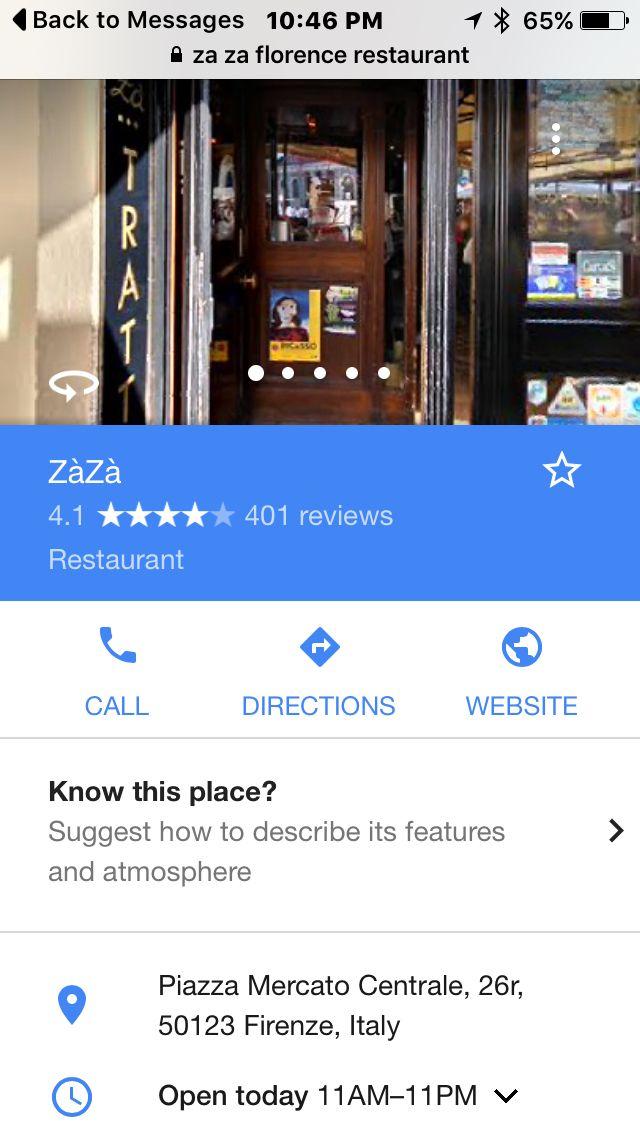 Ресторан во Флоренции ZaZa | Florence restaurants ...