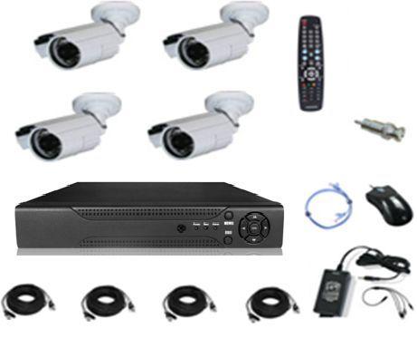 طقم 4 كاميرات مراقبة داخلي خارجي 900 خط وجهاز تسجيل دي في أر وجميع ملحقات التركيب Price Review And Buy In Egypt Amman Zarqa Camera Hard Disk Disc Records