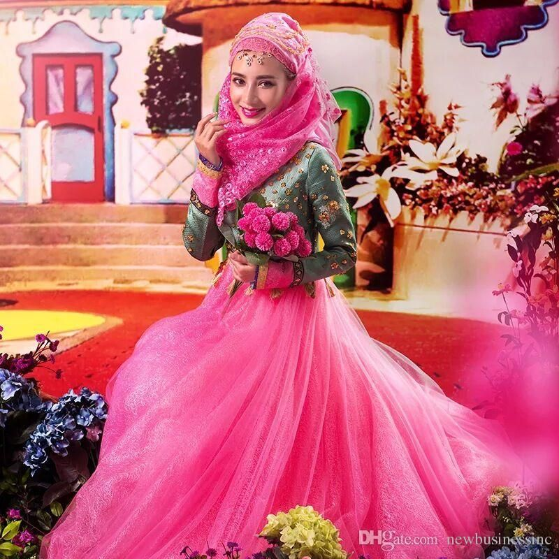 2015 New Design Fashion high neck woman princess princess pink ...