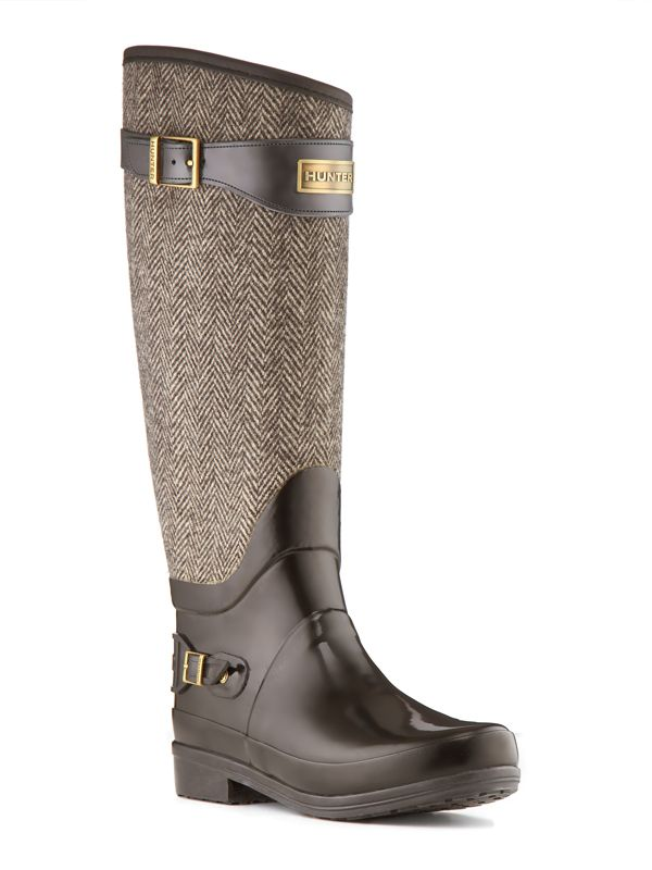 Tweed Hunter Boots #tweed #hunter #women #shoes #rain #boots