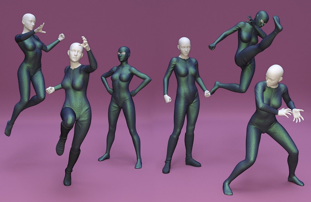 Superhero Poses For Genesis 8 Female 3d Models And 3d Software By Daz 3d Drawing Cartoon Characters Drawing Poses Poses