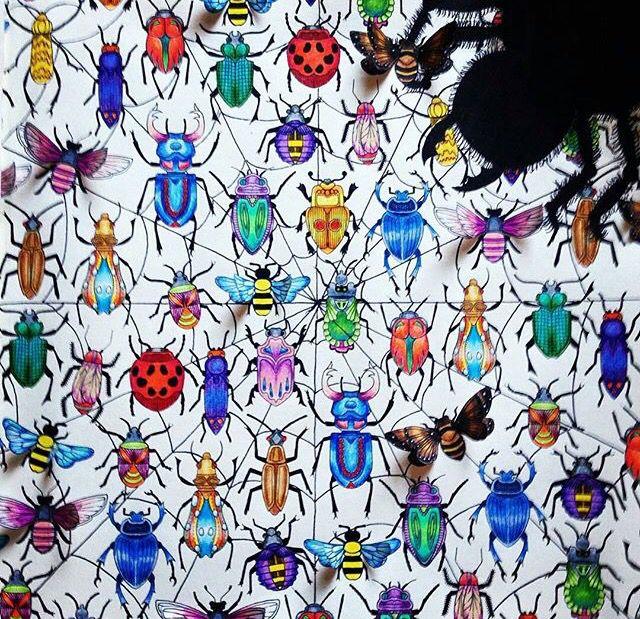Jardim Secreto Floresta Encantada Garden BugsColoring