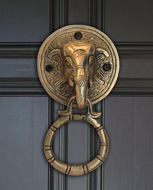 Elephant Brass Door Knocker Handle Unique Home Decor Design New