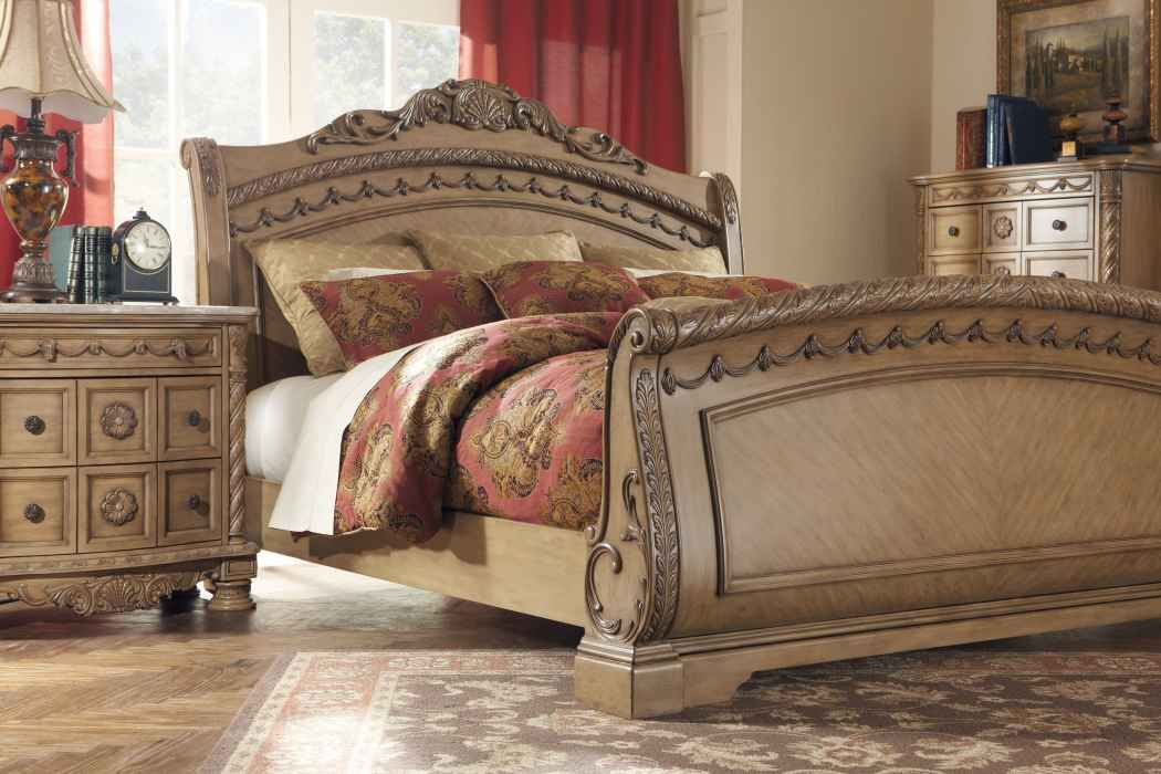 this is the south coast sleigh bed by ashley furniture
