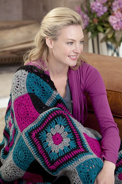 Time to Relax Granny Throw, free pattern by Marianne Forrestal for ...