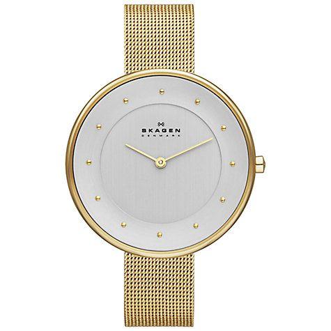 225dd05b0 Buy Skagen SKW2141 Women's Gitte Refined Mesh Strap Watch, Gold Online at  johnlewis.com