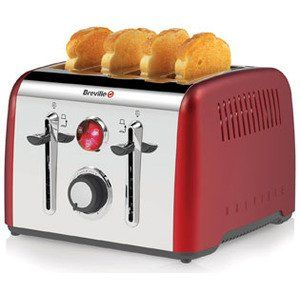 32% OFF, Now for £39.00, Breville VTT725 Toaster Red deals at DealDoodle UK