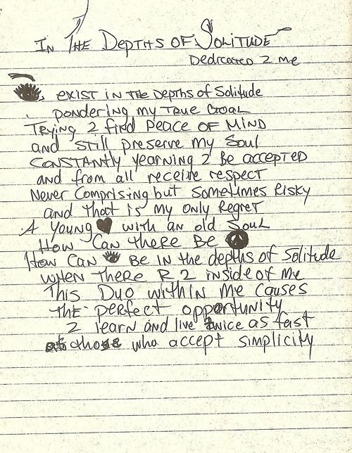 2Pac – In the Depths of Solitude: Dedicated 2 Me