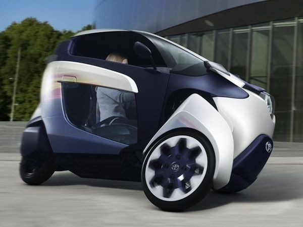 Toyota Has Just Begun Production Of A Super Cool 3 Wheeled Electric Vehicle Called The I Road This Thing Rebalances Itself To Surface