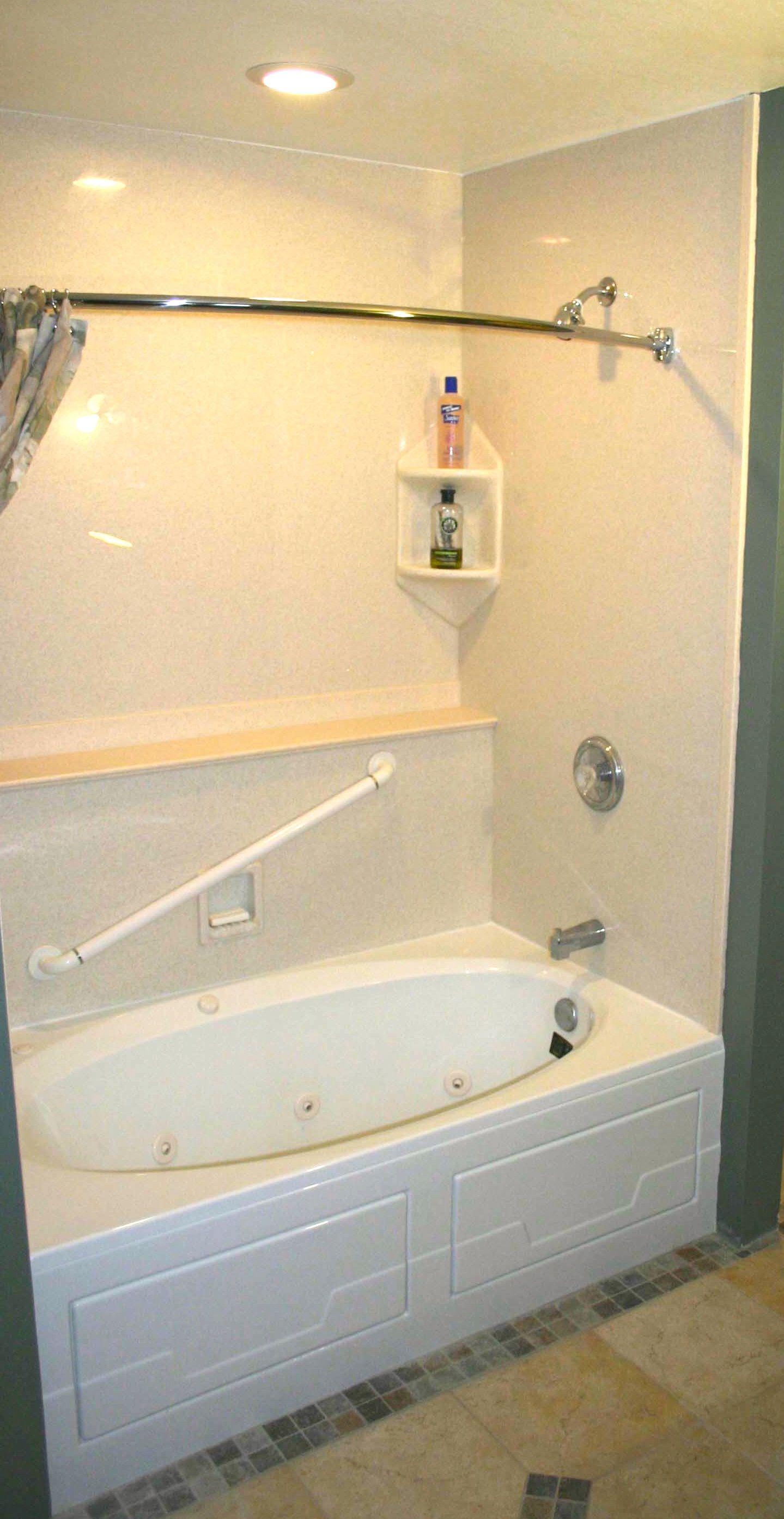 Luxury Bathroom Grab Bars whirlpool tub, grab bars. tub surround from luxury bath. 763-286