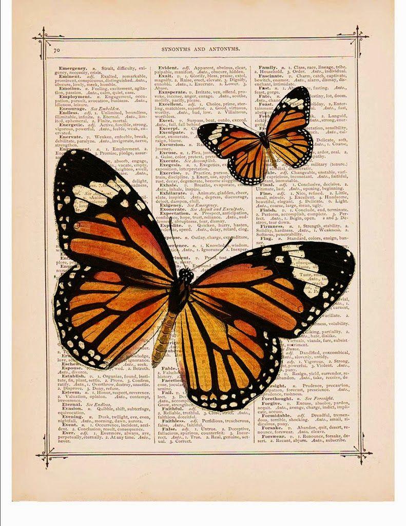Vintage paper butterflies 46