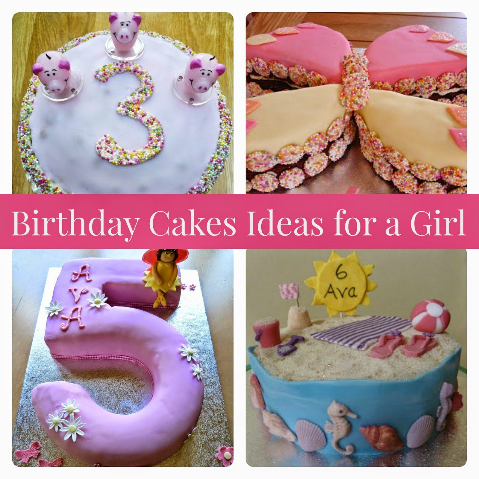 Birthday Cake Ideas Inspiration For A Girl Pig Age 5 Butterfly Seaside Beach