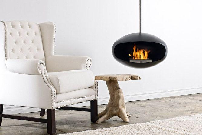 chemin e bio thanol design suspendue aeris black cocoon fires r ve de flamme 57 avenue albert. Black Bedroom Furniture Sets. Home Design Ideas