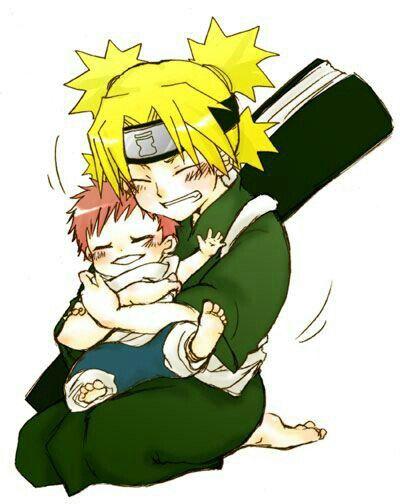 Temari, Gaara, young, baby, cute; Naruto | Naruto なると ... Gaara As A Baby