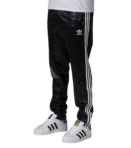 adidas MENS CHILE CUFFED TRACK PANT Black | Adidas track
