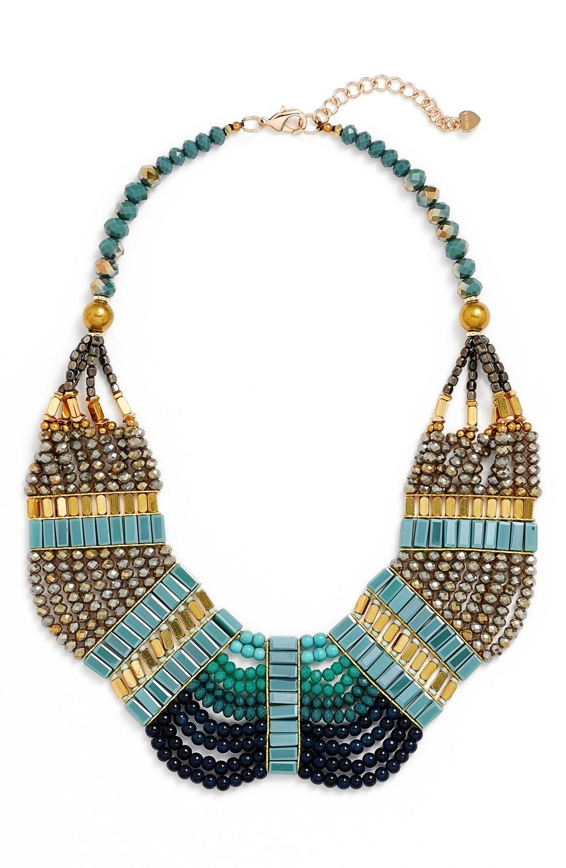 GemRox by Nakamol Beaded Collar Necklace available at #Nordstrom                                                                                                                                                     More