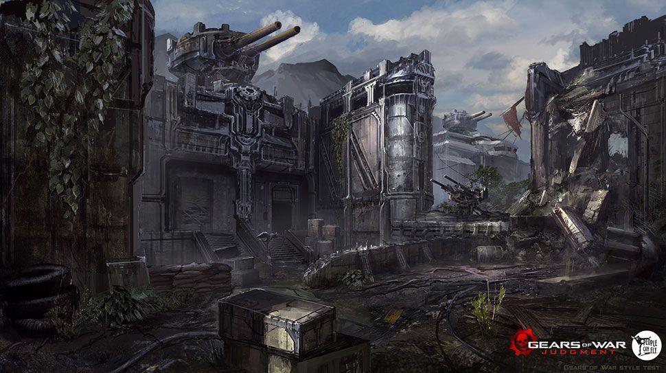 Environment Gears Of War Concept Art