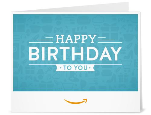 Amazon Com Amazon Gift Card Print Birthday Icons Gift Cards Printable Gift Cards Gift Card Printing Electronic Gift Cards