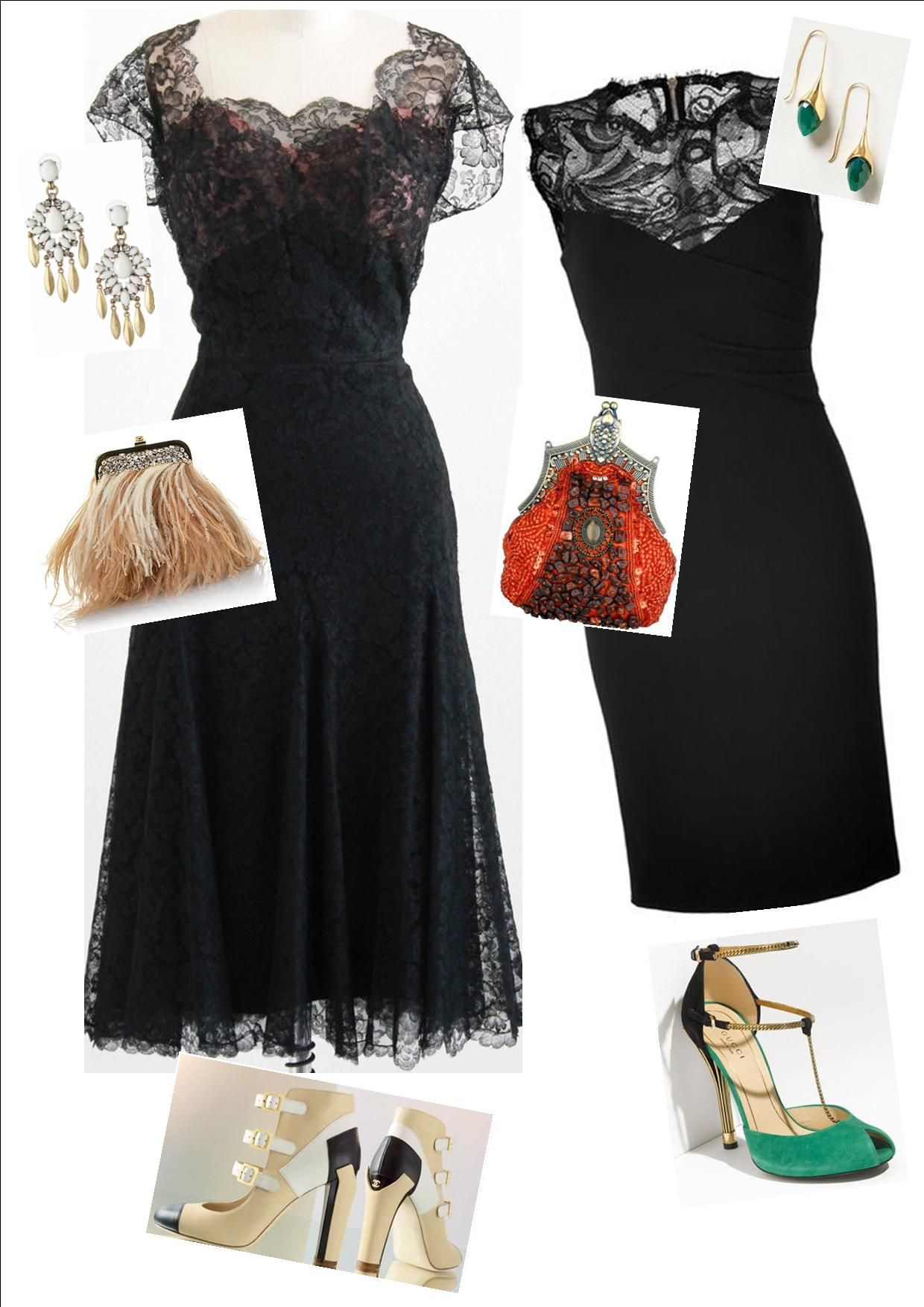 273bb4e2ce how to accessorise a black lace dress - Google Search