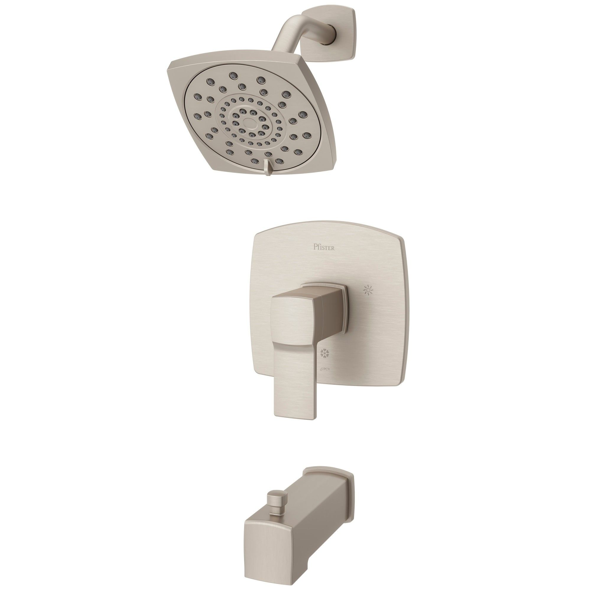 Pfister Lg89 8da Deckard Tub And Shower Trim Package Brushed