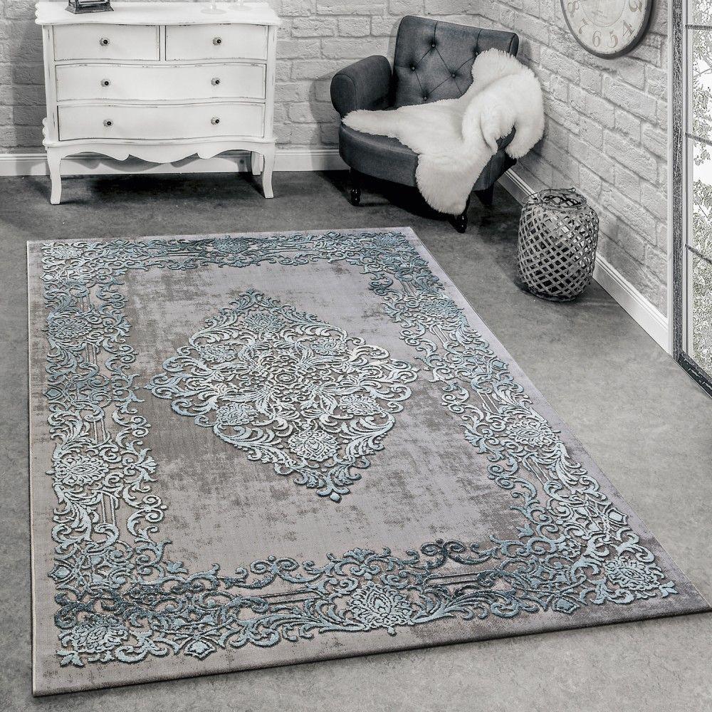 Designer Teppich Modern Wohnzimmer Teppiche 3D Barock Muster In ...