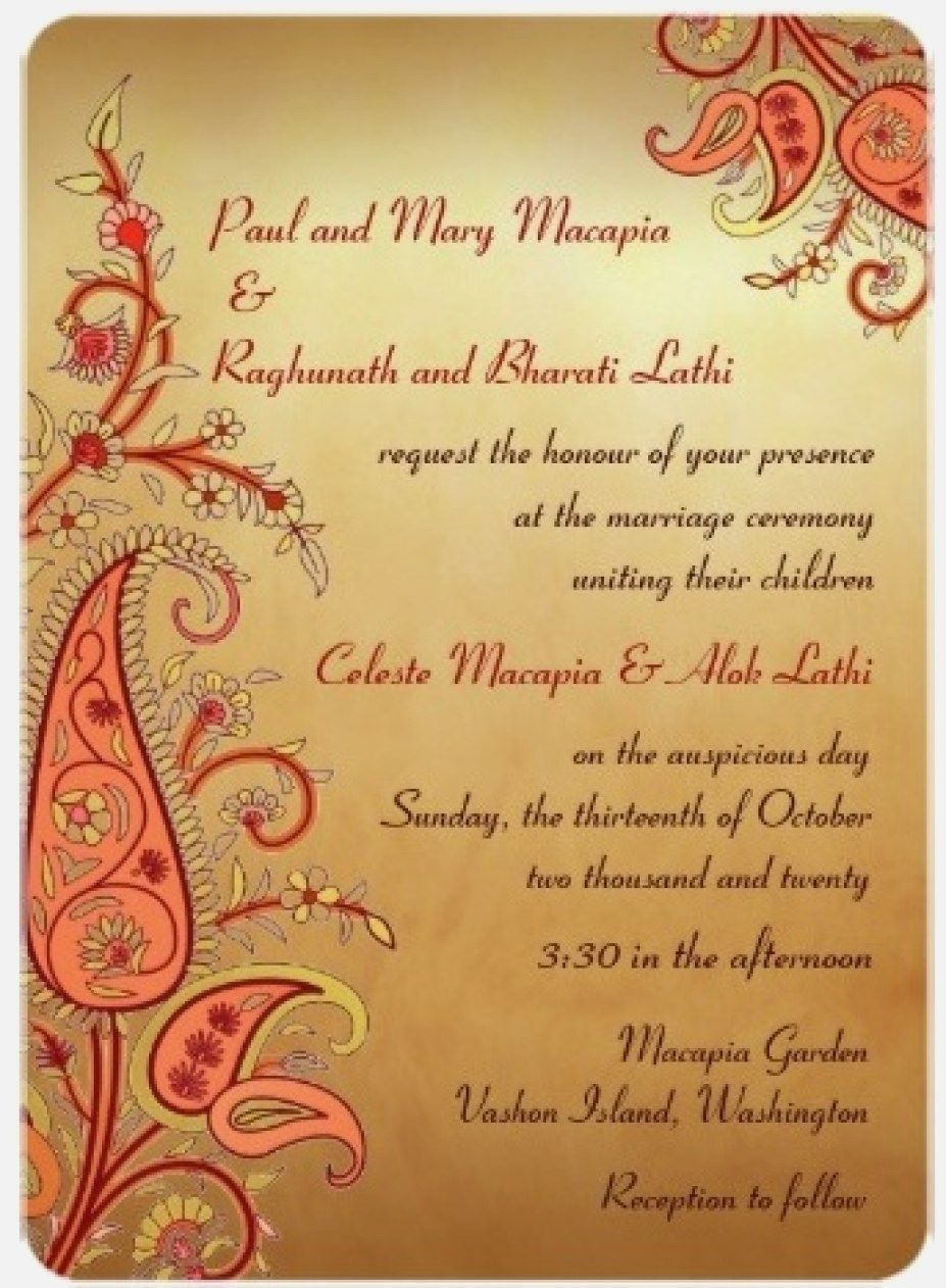 Wedding Invitation Cover Letter Wordings Indian Wedding Cards Indian Wedding Invitation Cards Wedding Cards