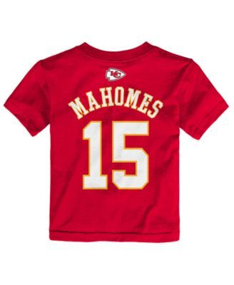93aa1c6062f Outerstuff Pat Mahomes Kansas City Chiefs Mainliner Player T-Shirt, Toddler  Boys (2T-4T) - Red 3T