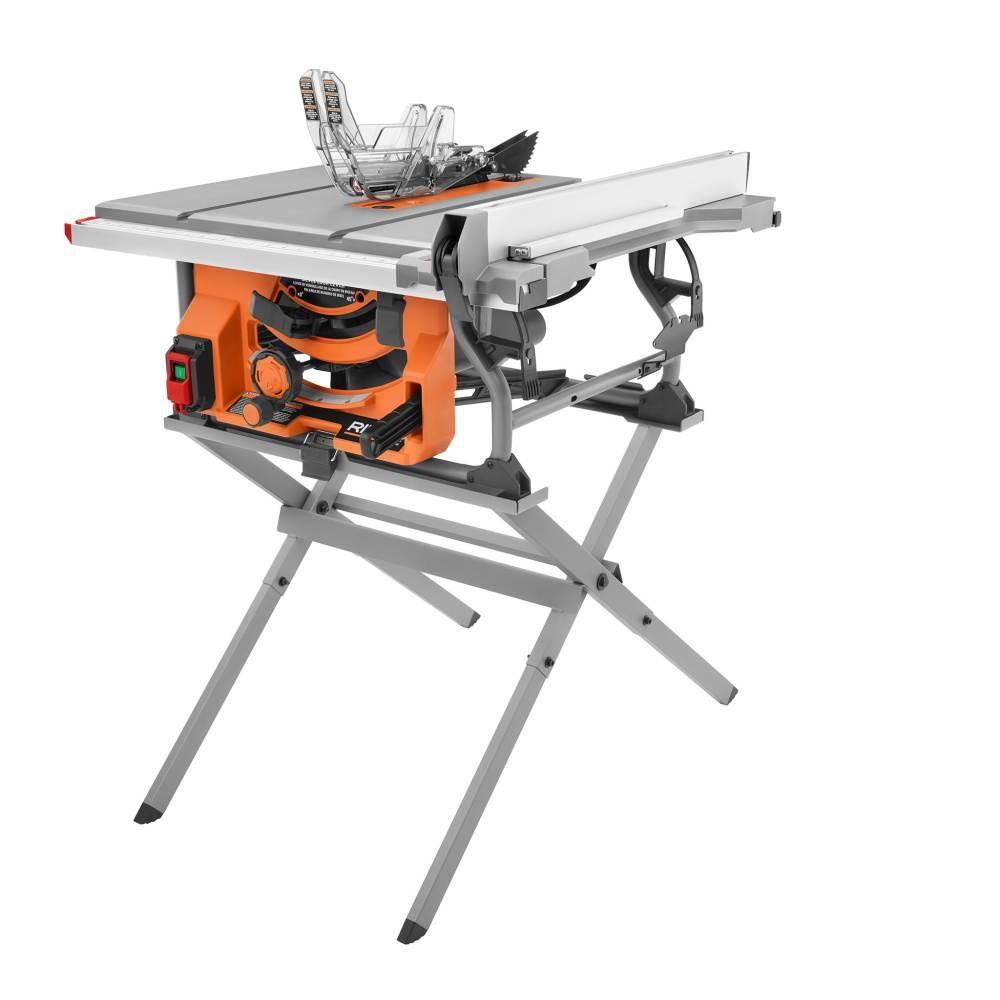 Ridgid 15 Amp 10 In Table Saw With Folding Stand R4518 The Home Depot In 2020 10 Inch Table Saw Table Saw Best Table Saw