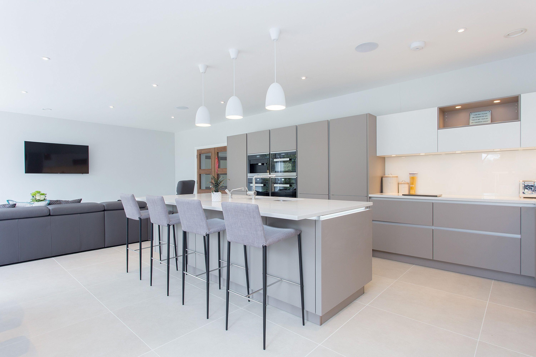 Nolte Handleless Kitchen in Soft Lac White and Lava | Keukenideeën ... | {Nolte küchen magnolia matt 28}