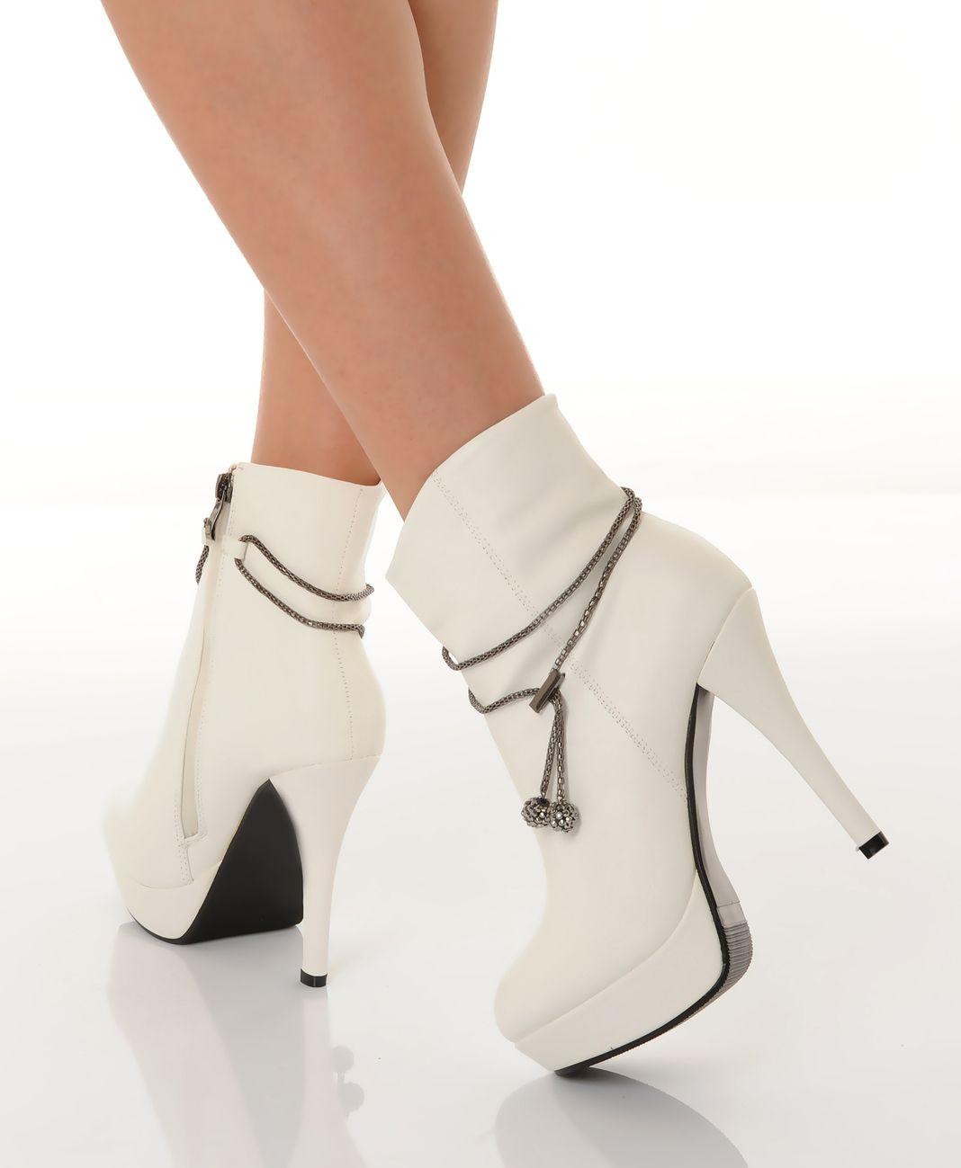 Sandales à talon BLANC MyB - Femme - Soldes jusqu'à -70%