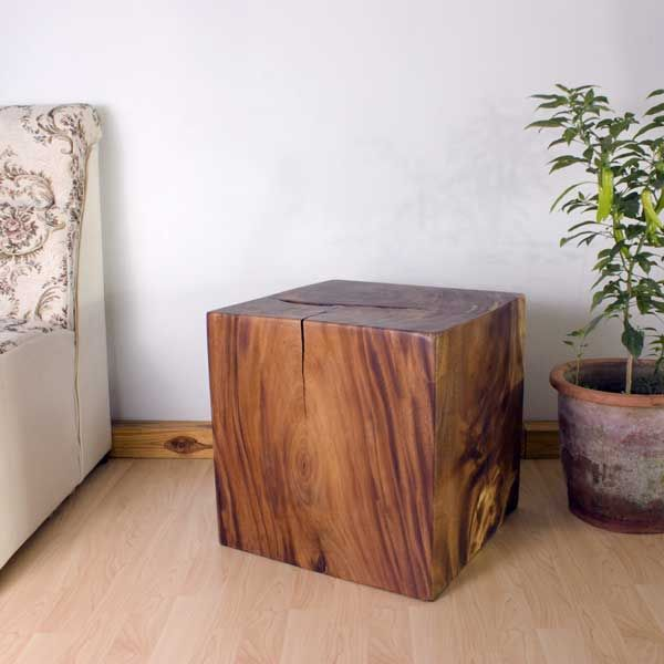 Exceptional End Table Cube 18 Inch Carved Wood Thai Furniture. Available In Agate Grey,  Oak Or Walnut Oil Finish. Finishes Are Hand Rubbed By Thai Artisans For  Home ...