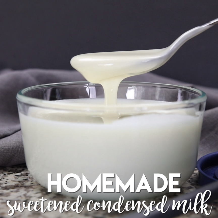 This Easy Homemade Sweetened Condensed Milk Recipe Can Be Made With Your Blender In 2 Min Video Homemade Sweetened Condensed Milk Condensed Milk Recipes Milk Recipes
