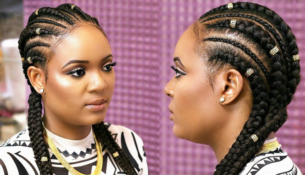 How To Cornrow With Extensions Feed In Braids Omabelletv