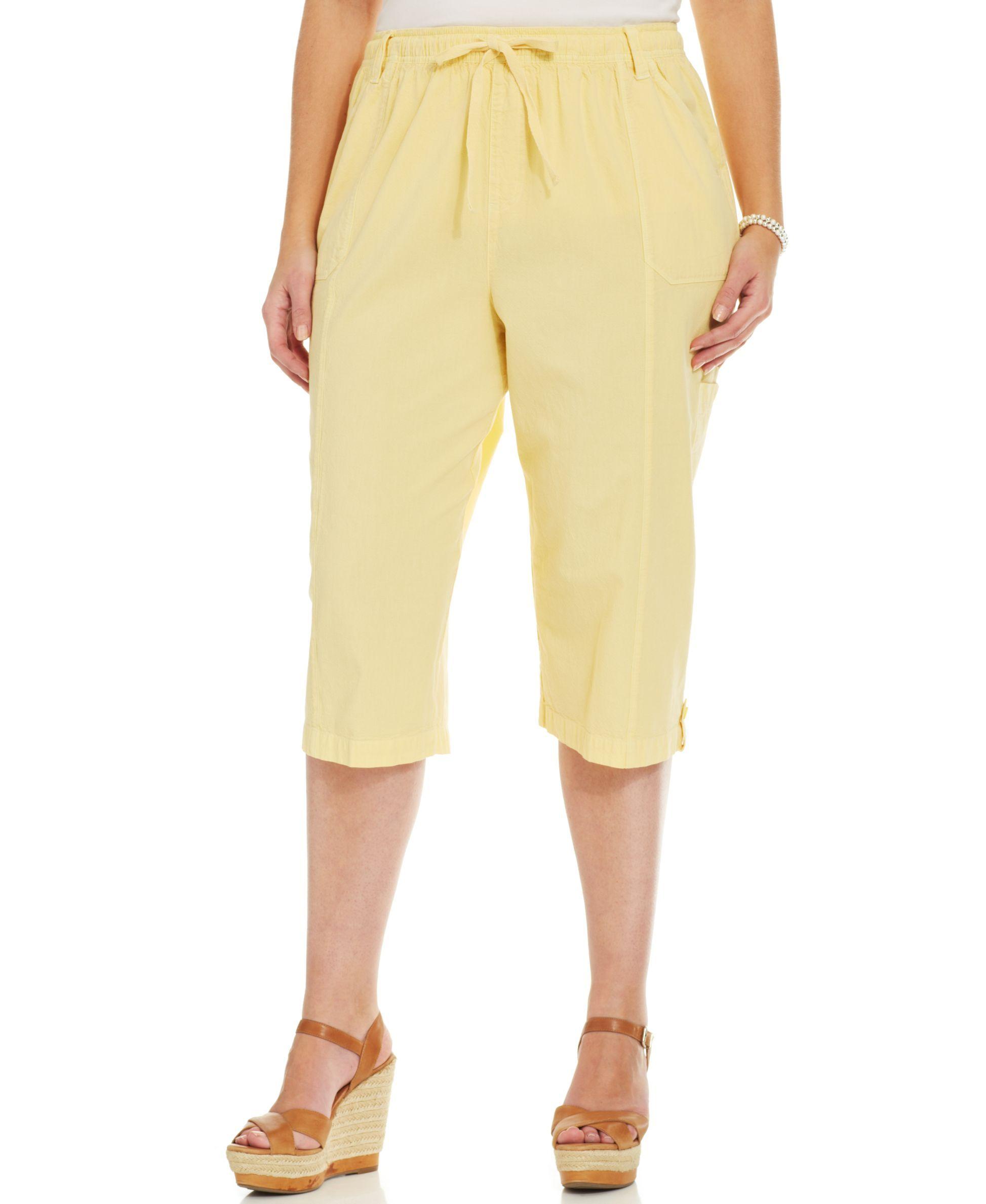 Karen Scott Plus Size Cargo Capri Pants | Products | Pinterest ...