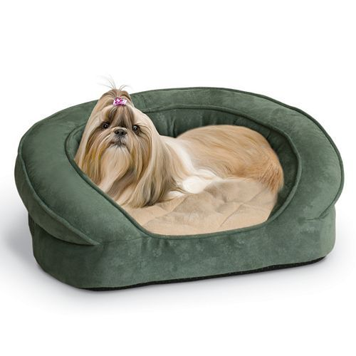 K H Pet Deluxe Ortho Sleeper Oval Pet Bed 20 X 16 Bolster