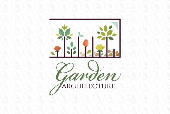 Garden Architecture 350 Http Www Stronglogos Com Product Garden Architecture Logo Design Sale Landscaping Garden Architecture Architecture Floral Shop