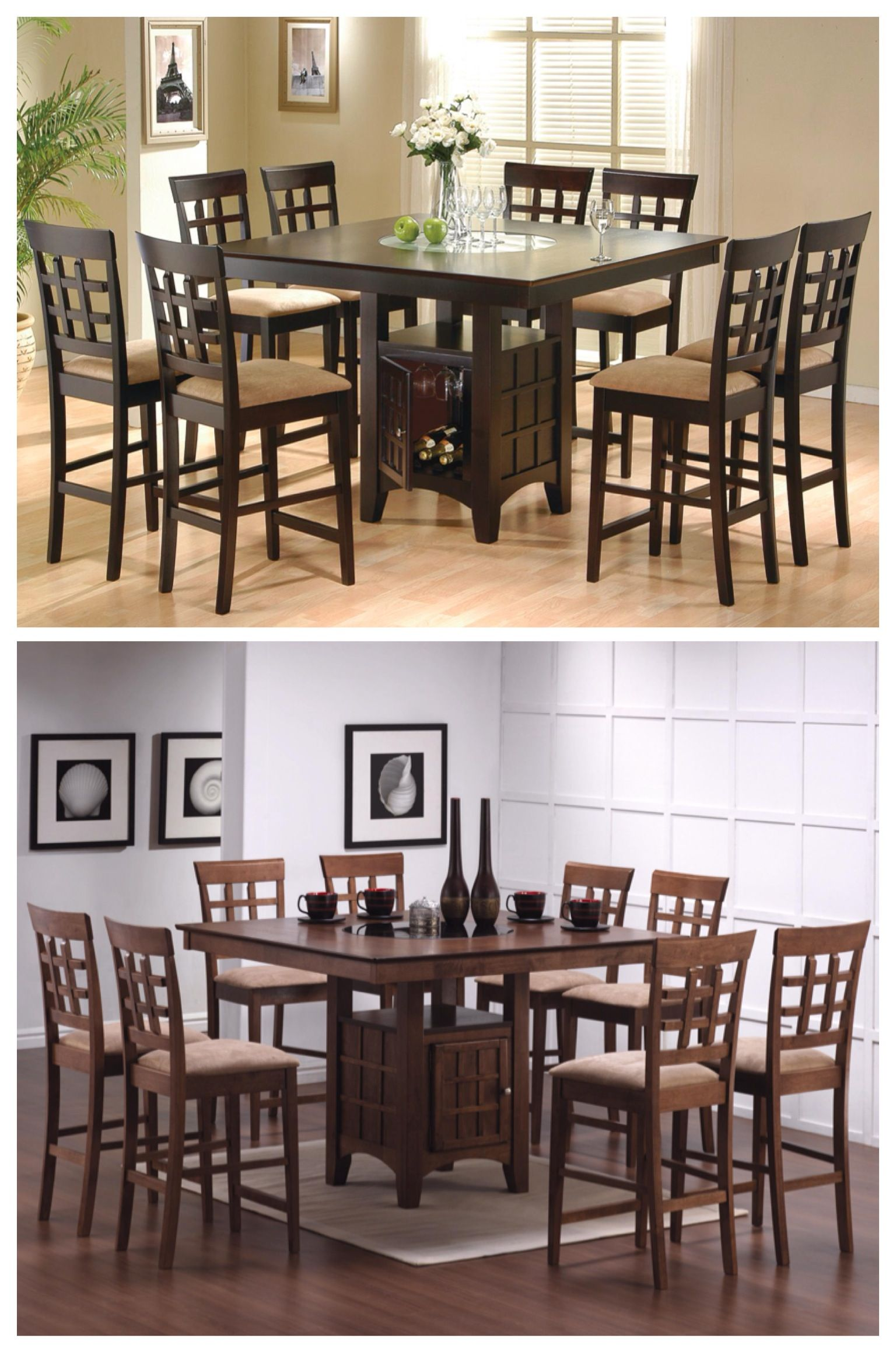 Sleek Counter Height Dining Table And Chair Set Will Be The