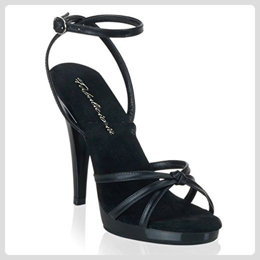 PleaserUSA High Heels Sandaletten Flair-436 Leder schwarz