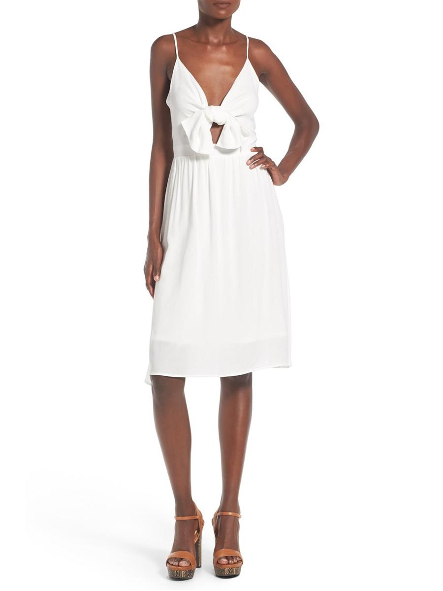 15 Romantic White Dresses For Summer Under 100 Summer Dresses Romantic White Dress Tie Front Dress [ 1200 x 900 Pixel ]