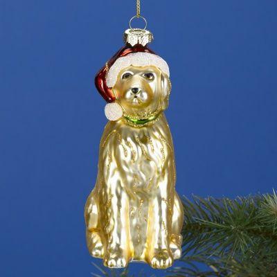 Golden Retriever Glass Ornament Golden Retriever Ornament Golden Retriever Art Golden Retriever