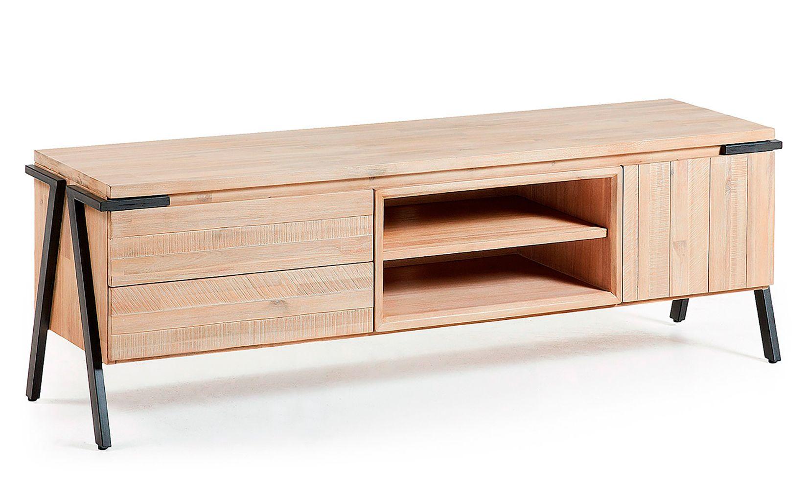 Mueble tv industrial disset 2 puertas 1 cajon furniture for Mueble de pared industrial