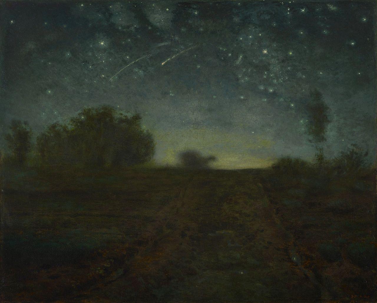 Jean-francois Millet Starry Night Ca. 1851. Art Jean Francois
