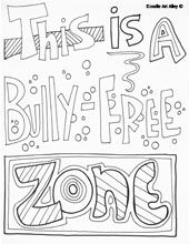 How do you find free bullying coloring pages?