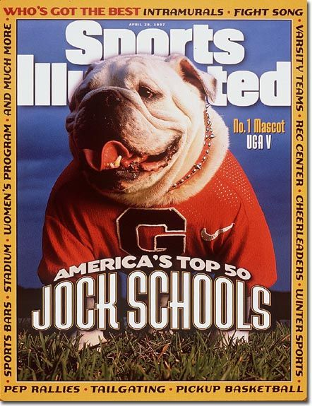 Uga V Gained National Fame With This Sports Illustrated Cover Uga Had A Classic Old School Georgia Bulldogs Football College Football Fans Georgia Bulldogs