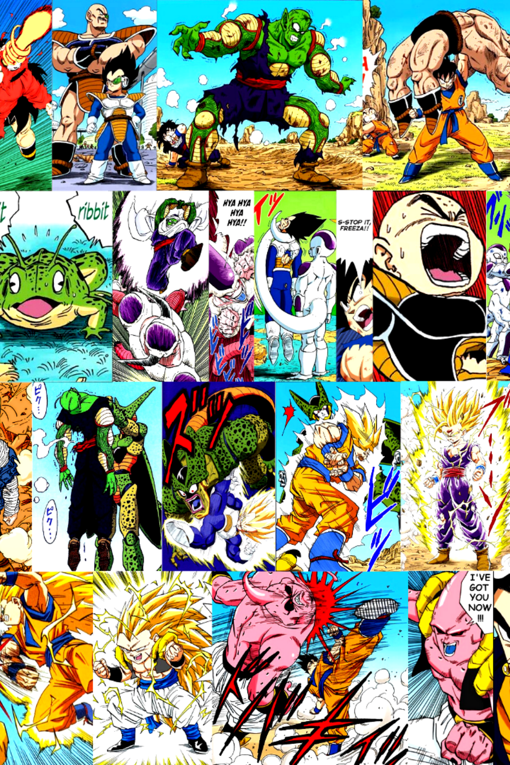 Dragon Ball Z Four Saga Progression Timeline High Quality Canvas Poster Print Only 16 9 Dbz Art In 2021 Poster Prints Dragon Ball Z Dragon Ball